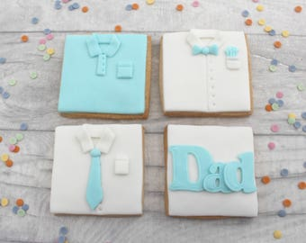 Father's Day gift, gift for dad, decorated cookies, birthday gift for father, birthday present for dad, foodie gift, edible treat, biscuits