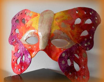 """Flames"" butterfly mask"