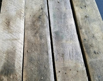 Reclaimed weathered Pallet Boards Planks (10 Boards for 10)