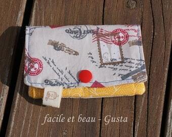 Mini purse cotton (map and money)