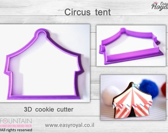 Circus tent - 3D cookie cutter