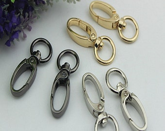 6pcs glod silver gunmetal swivel snap hooks  swivel lobster clasp swivel hooks Purse Finding bag handbag purse  Hardware