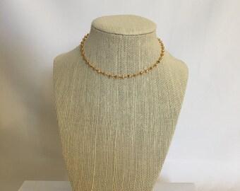 Gold Pyrite Choker