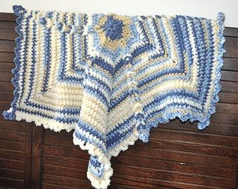 Blue Star Baby Blanket