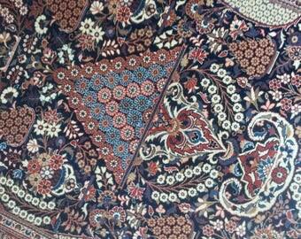 Very old persian rug kashan 6.10 × 4.7 ft 209 × 140 cm
