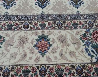 Persian rug Esfahan 7.4 × 4.11 ft 224 × 151 cm wool and silk on silk very fine, master Davari
