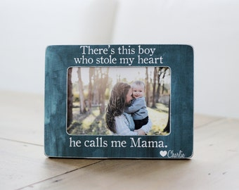 Mom Frame This Boy Who Stole My Heart Calls Me Mom Picture Frame GIFT For Mom Mothers Day GIFT