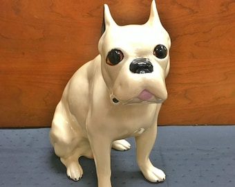 Super Cute Vintage 1960s Hand Painted French Bulldog Figurine