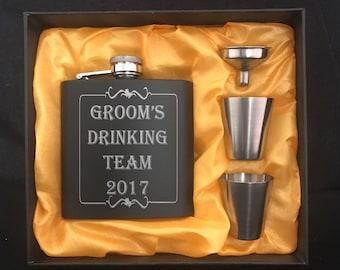 Bachelor Party Flask Sets - Groomsman Flask Sets - Wedding Party Gift Sets - Bachelor Party Gift Sets -Groomsman Gift Set