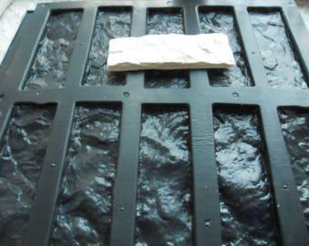 set of 2 Plastic molds stone old brick Wall Decor Decor fireplace