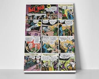 Batman Robin Comic Strip Poster or Canvas | Limited Edition Batman Robin Comic Strip Poster or Canvas