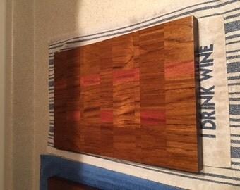Teak and Mahogany Cutting Board