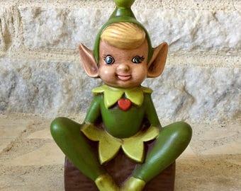 vintage ceramic elf figurine