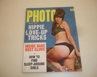 PHOTO March 1968~Volume 4 #3~Vintage Men's Adult Pin-Up Digest