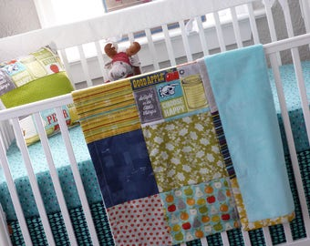 Crib Bedding/Baby Bedding/Girls Bedding/Girls Blanket/Strawberry Blanket/Floral Bedding/Mason Jar Blanket/Baby Girl Quilt/Flower Blanket
