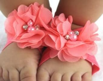 Barefoot Flower Sandals and Headband Set