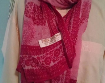 Lot of two Pashmina spring scarves