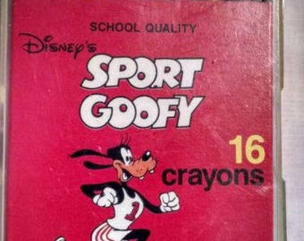 Vintage Disney Crayons - Goofy - School Supplies