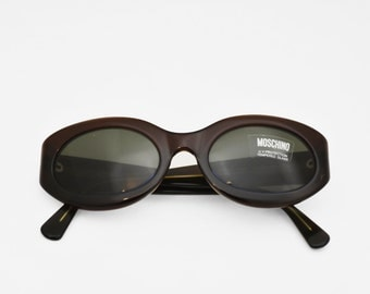 Vintage MOSCHINO Sunglasses brown sunglasses sunglasses made in Italy