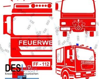 Firetruck - plotter file set