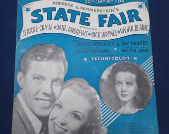 "State Fair Sheet Music-""It Might As Well Be Spring"""