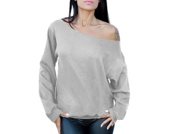 Off The Shoulder Oversized Slouchy Sweater Sweatshirt