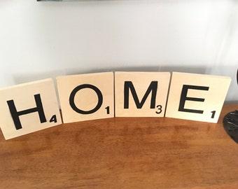 HOME scrabble letters
