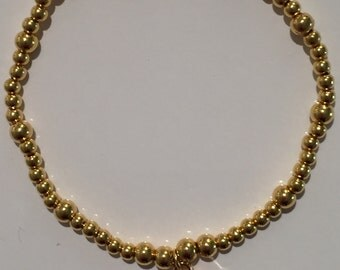 Gold Plated Bead Bracelet