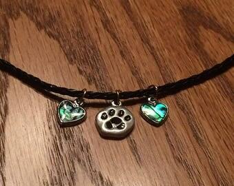 Dog lover necklace.