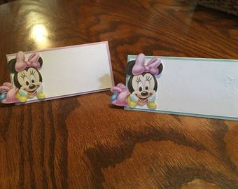 12 Baby Minnie Mouse Place Cards