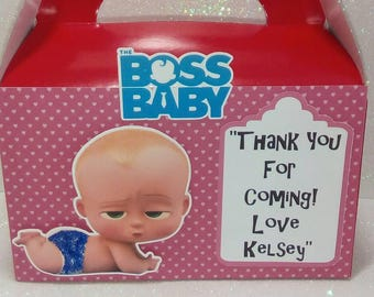 The boss baby  candy boxes birthday