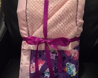 Purple/Pink Pony Blanket