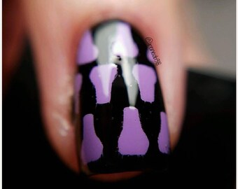 Nail Polish Bottle Stencil