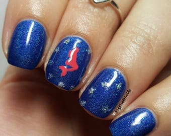 Mermaid & Star Stencil