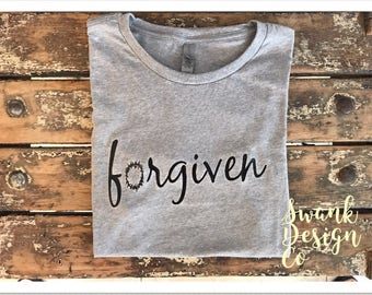 Forgiven crown of thorns t shirt | religious t shirt | Christian t shirt | Jesus t shirt |statement t shirt | womens t shirt |ladies t shirt