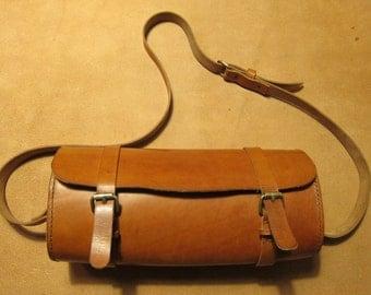 vegetable tanning leather satchel bag