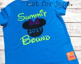 Summit Bound 2017 Tee Cheer Cheerleader Disney