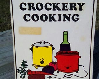 Vintage Crockery Cooking Cookbook by Alexis Durrell 1975 California Collectible
