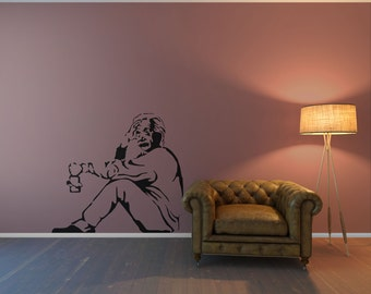 Banksy Einstein, Banksy Wall Decal, Banksy Wall Decals, Einstein Wall  Sticker, Vinyl