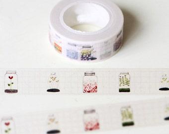 Mason jar washi tape, bullet journal accessories, planner decoration, scrapbooking tape, planner stickers, decorative tape, BUJO, kilner jar
