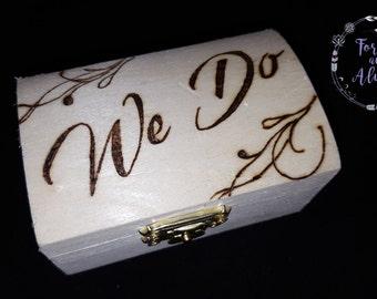 custom ring box rustic wedding engraved ring box ring box wedding wedding - Wedding Ring Box
