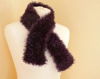 Gorgeous Purple Eyelash Evening / Day Scarf - Charity Listing - Ideal For Spring