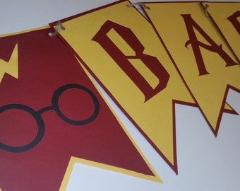 Harry Potter Baby Shower Banner | Gryffindor Themed | Event Banners signs | Party Decorations | Welcome Muggle | Custom Decoration