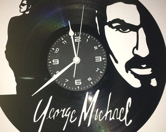 GEORGE MICHAEL on vinyl record clock handmade