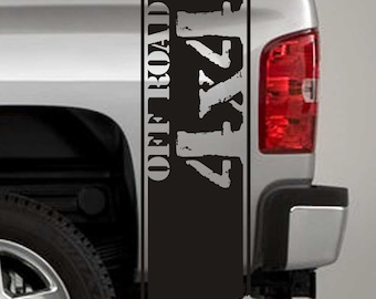 Truck Bed Stripe Decals - 4x4 Offroad Stickers - Universal Fit (Pair x2)