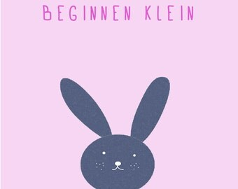 Poster ' Rabbit ', pink