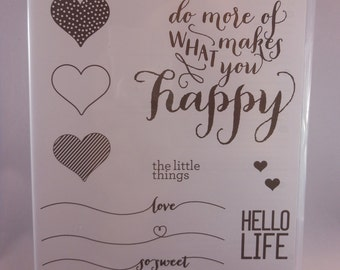 Hello Life StampinUp Rubber Stamps Set
