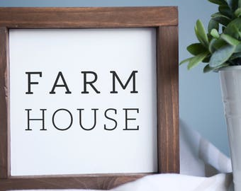 "Farm House Wood Mini Sign | mini wood sign, rustic wall decor, farmhouse sign | 7 "" x 7"""