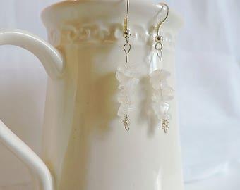 Moonstone  gemstone earrings, dangle earrings,  gemstone earrings, silver earrings, boho jewellery, gifts for her