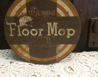 Vintage Tin Can | Floor Mop | Retro Advertising